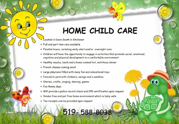 At Home Daycare Kitchener