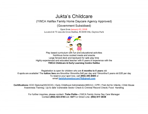 jukta's childcare in halifax | infant,toddler,preschool